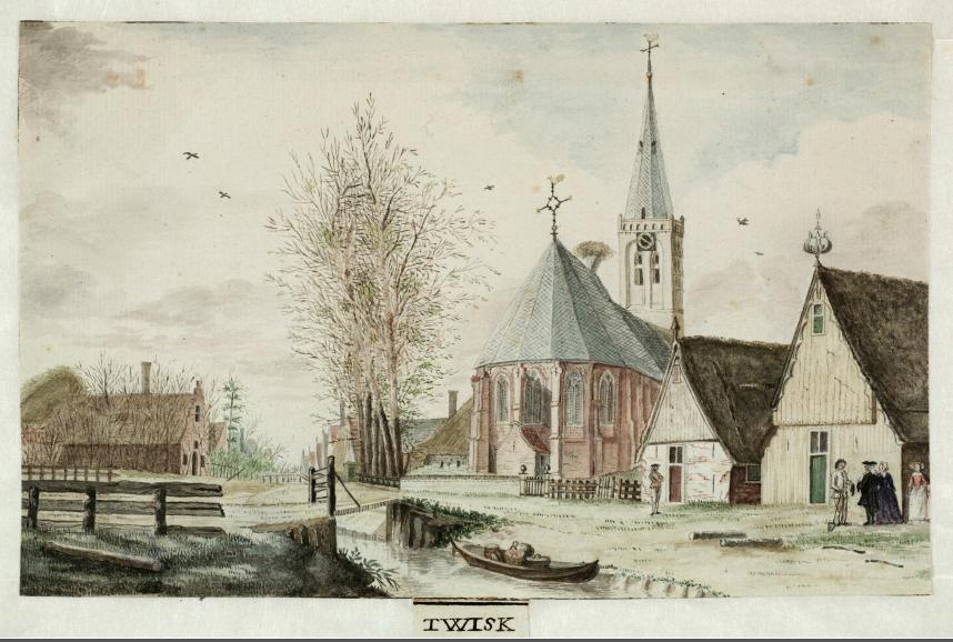 Oude Tekeningen Kerk Twisk
